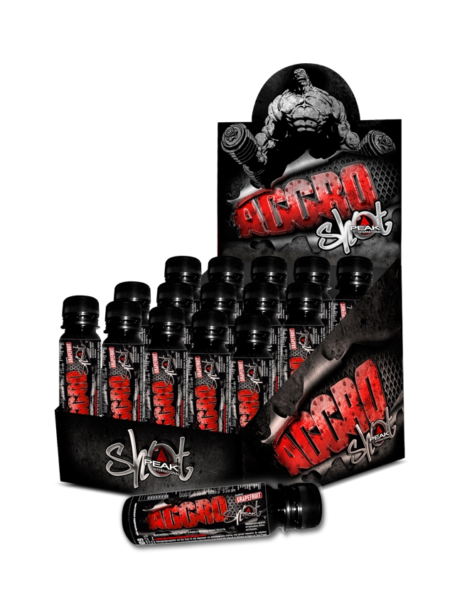 Aggro Shot - Display - 15 x 60ml